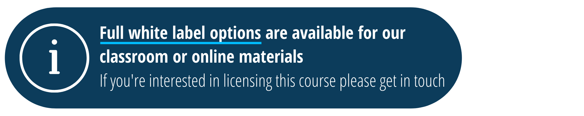 Enquire about licensing this course